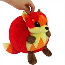 "SQUISHABLE Plush Flame Fox 7"" round stuff animal Amazingly soft NEW in Pkg"