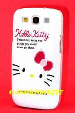 for samsung galaxy S3 cute kitten hello kitty hard case friendship white pink /
