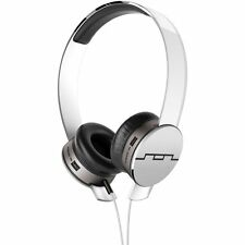 SOL REPUBLIC TRACKS HD WHITE ON EAR HEADPHONES & MIC V10 SOUND ENGINE 1241-02
