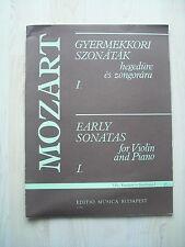 Noten Mozart Early Sonatas für Violine und Klavier