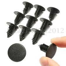 100PCS 20MM RIVETTI CLIP SCATTO IN NERO PLASTICA PER MOTO AUTO PARAFANGO