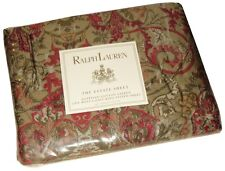 SUPER RARE RALPH LAUREN RANDOLPH RED FITTED CAL KING SHEET MADE IN ITALY