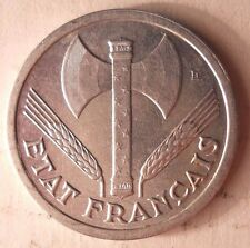 1944 VICHY FRANCE 2 FRANCS - AU - HIGH VALUE COIN - FREE SHIPPING