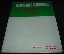 Werkstatthandbuch Daihatsu Applause HD Motor Einspritzanlage Fehlersuche 11/1989