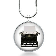 Typewriter necklace/ Typewriter pendant gifts for writers/ author jewelry /retro