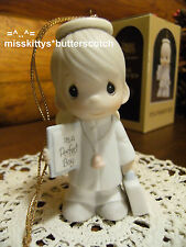 Precious Moments~ORNAMENT~BOY Doctor ANGEL~102415~It's A PERFECT Boy~stethoscope