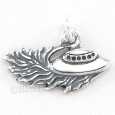 UFO Space Ship 925 Charm Pendant .925 STERLING SILVER Alien Travel Jewelry