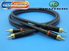 1M RCA/Phono Hi-fi Interconnect Van Damme UP-LCOFC Cable Neutrik / Rean Plugs
