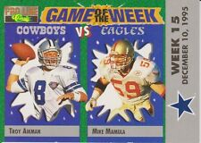 1995 Pro Line Game of the Week Visitor #V26 Troy Aikman/Mike Mamula