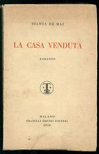 DE MAJ BIANCA LA CASA VENDUTA FRATELLI TREVES 1930