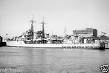 ROYAL NAVY C CLASS LIGHT CRUISER HMS CONTEST AT MELBOURNE IN 1947