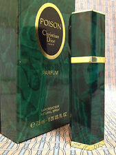 Vintage 1990s POISON 1/4 oz 7.5 ml Pure Parfum Spray Christian Dior OLD FORMULA