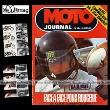 MOTO JOURNAL N°244 MONTESA 250 ENDURO, PATRICK PONS, MICHEL ROUGERIE 1975