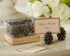 72 Fall Winter Woodland Forest Pine Cone Place Card Photo Holder Wedding Favors