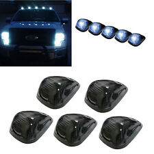 5Pcs Smoked Lens+Super White T10 LED Cab Top Roof Running Clearance Marker Lamps