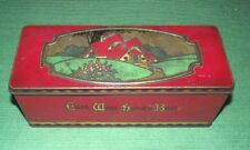 c1920 Art Deco Cottage CWS Biscuit Tin Box & Hinged Lid - East West Homes Best !