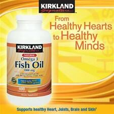 Kirkland Signature Omega-3 Fish Oil Concentrated 1000 mg 400 Softgels Exp. 2 Yrs