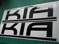 KIA panel skirt car vinyl sticker decal x2