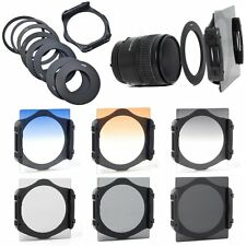 9pcs Ring Adapter + 6pcs ND 2 4 8 Gradual Grey Orange Blue Filter for Cokin P
