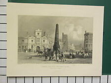 c1817 ANTIQUE LONDON PRINT ST GEORGES FIELDS SOUTHWARK SCHOOL FOR INDIGENT BLIND