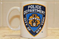 NYPD CITY OF NEW YORK POLICE DEPARTMENT WHITE 11 OZ COFFEE MUG