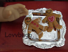 """Gingerbread Men on Tray Food for 18"""" American Girl Doll Widest Selection Online!"""