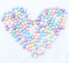 200pcs Mixed Colors Heart Shape Acrylic Spacers Beads 7x7x5mm free shipping D001