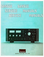 SANSUI INSTRUCTION SERVICE MANUALS  REPAIR MANUALS AUDIO HIFI VINTAGE