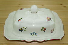 "Villeroy Boch Petite Fleur Rectangular Covered Butter Dish, 2 pieces, 8"" x 6"""