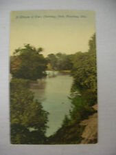 VINTAGE POSTCARD GLIMPSE OF THE RIVER IN OLENTANGY PARK COLUMBUS OHIO UNUSED
