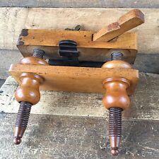 Antique SCREW STEM Plough Wooden PLANE Sweden Swedish Vintage Old Hand Tool #109
