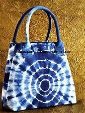 Indigo Blue Tie Dye Shibori Mandala Hand Bag Shoulder Bag Messenger Hobo Bag