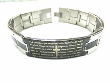 "Stainless Steel PADRE NUESTRO  Men's Bracelet ""Brand NEW"""