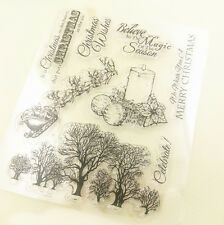 1 Sheet Silicone Transparent Stamp Seal Merry Christmas Album Scrapbooking &11