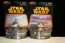 STAR WARS SAGA BAIL ORGANA & OBI-WAN SEPARATION OF THE TWINS NEW ON CARDS