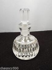 Vintage Waterford Crystal Lismore Perfume Bottle w/ Stopper Dauber