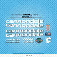 Cannondale F2000 Bicycle Decals - Transfers - Stickers - White - Set 0632