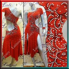 LATIN RHYTHM SALSA BALLROOM COMPETITION DANCE DRESS - SIZE S, M, L (LT733)