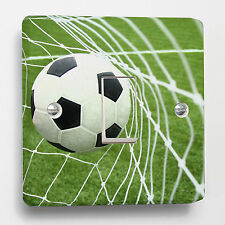 Green Football Soccer Light Switch Sticker to fit Crabtree 1-gang way CB 4070