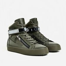 ZARA HIGH TOP ZIPPED TRAINERS/SNEAKERS UK8/42/US9 Givenchy Balmain Zanotti