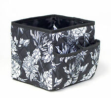 NEW Everything Mary  EVM10132-1 Black/White Fold-Up Pattern Cubby 17¾x17¾x15¼cm
