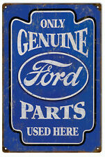 Only Genuine Ford Parts Gas And Motor Oil Sign Reproduction