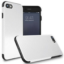 Luxury Carbon Fiber Rugged Silicone Flexible Case Cover for iPhone 5s SE 6s Plus