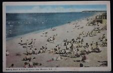 "MONCTON, NEW BRUNSWICK ""Bathing Beach at POINT DU CHENE, MONCTON N.B. #17""-1954"