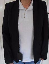 Bruuns Bazaar Copenhagen noir 100% laine femmes blazer taille 40
