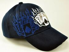 NEW! ALL IN POKER TEXAS HOLD'EM SHADOW CAP HAT NAVY