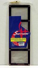 1 Saf-T-Gard FOUR 4 CARDS SCREWDOWN MLB NFL CARD HOLDERS w/ BLACK BORDER S410B