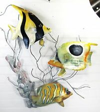 Reef fish Hand Made Metal Tropical Wall Art Home Decor