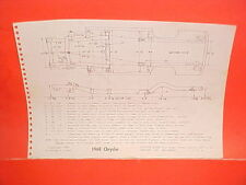 1969 CHRYSLER NEW YORKER 300 NEWPORT CONVERTIBLE COUPE FRAME DIMENSION CHART