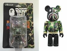 Medicom Toy Be@rbrick Bearbrick BAPE CAMO SHARK Green 100% Figure WGM ape New